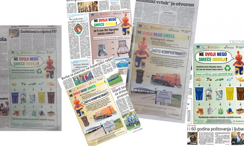 Dizaj i izrada plakata, zakup medjiskog prostora i objava u lokalnim novinama
